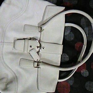 White coach purse